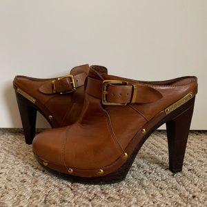 BCBGeneration Leather Heel Slip on Bootie